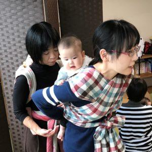 4/19(水) いちまい布でだっことおんぶ(へこおびの会+ラップ体験)@カフェ&スペースほとり
